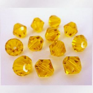 Crystal beads - faceted 8mm, Yellow, 10 Piece, (ZZB023)